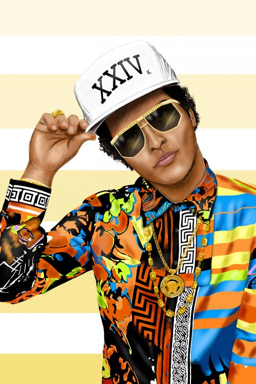Bruno Mars Illustration