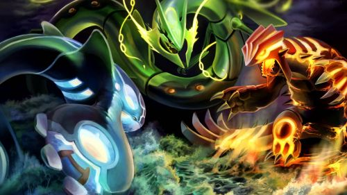 Hoenn region all legendary pokemons