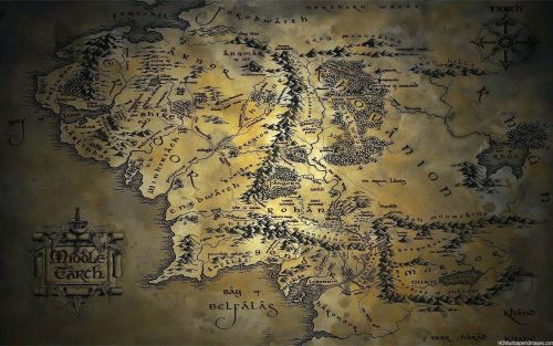 Map Of Middle Earth - Lord of The Ring (LOTR)