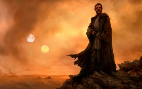 Obi wan on the desert