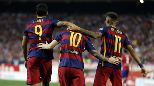 The three heroes of Barcelona team