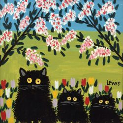 Three black cat